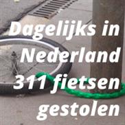 Dagelijks in Nederland 311 fietsen gestolen