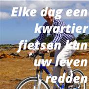 Elke dag een kwartier fietsen kan uw leven redden
