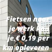 Fietsen naar je werk kan je € 0,19 per km opleveren