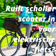 Ruilt scholier scooter in voor elektrische fiets?