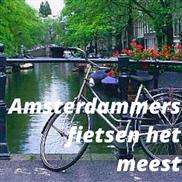 Amsterdammers fietsen het meest