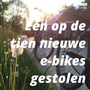 Één op de tien nieuwe e-bikes gestolen