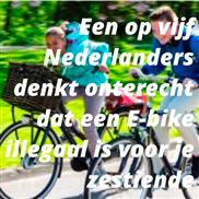 Een op vijf Nederlanders denkt onterecht dat een E-bike illegaal is voor je zestiende