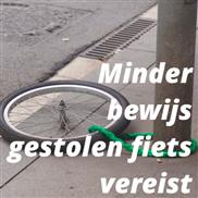 Minder bewijs gestolen fiets vereist