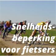 Het leek wel een 1 april-grap, snelheidsbeperking voor fietsers