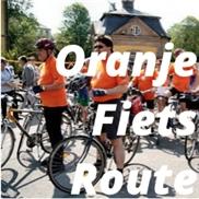 Oranje fietsroute