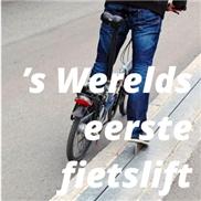 's Werelds eerste fietslift