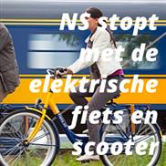 NS stopt met de elektrische fiets en scooter